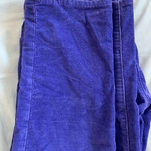 GAP Pants - Super cute purple/blue cords. Cozy for fall!